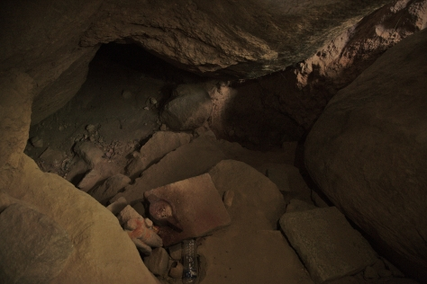 வால்மீகி ஆசிரமத்தின் உள்ளே இருக்கும் சீதா பிரசவித்த அறை